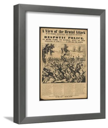 Political Poster Condeming 'Despotic Police'-Metropolitan Police-Framed Art Print