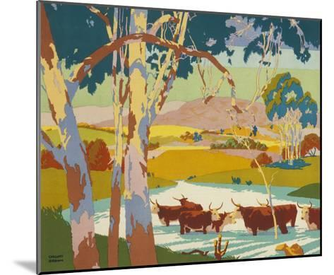 Poster for the Empire Marketing Board, Depicting Cattle Raising in Australia--Mounted Giclee Print