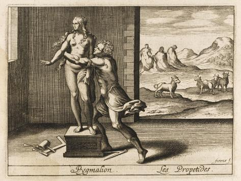 Pygmalion and Statue--Stretched Canvas Print