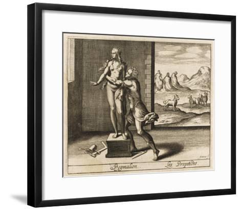 Pygmalion and Statue--Framed Art Print