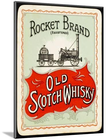Rocket Whiskey--Mounted Giclee Print