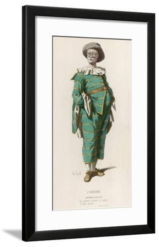 Matthieu' ('Creancier') a Character from 'L'Eugene' by Jodelle--Framed Art Print