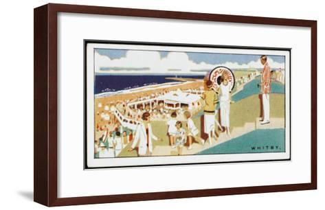 Looking Down to the Beach at Whitby, Yorkshire--Framed Art Print