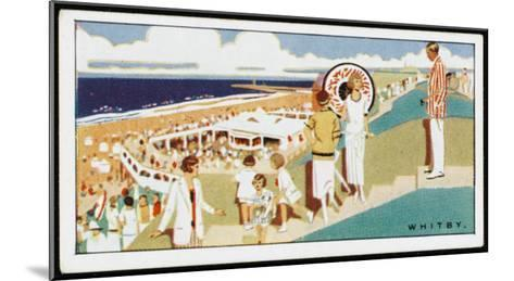 Looking Down to the Beach at Whitby, Yorkshire--Mounted Giclee Print