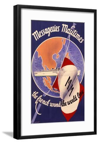 Messageries Maritimes Poster--Framed Art Print