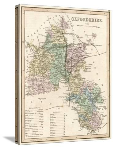 Map of Oxfordshire--Stretched Canvas Print