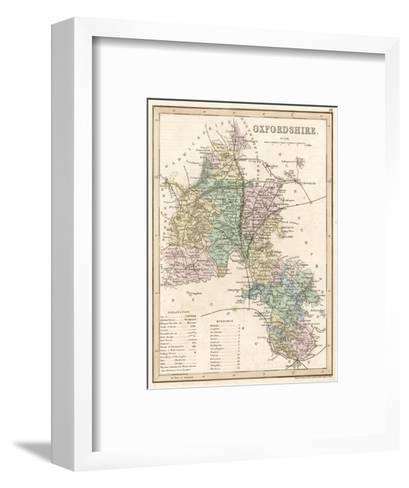 Map of Oxfordshire--Framed Art Print