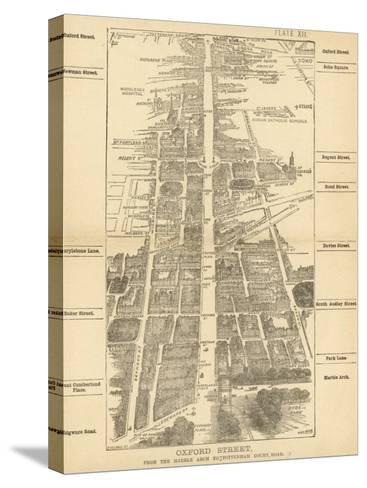 London Birdseye--Stretched Canvas Print