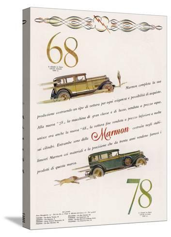 Marmon 68 and 78 Offered to the Discrimating Italian Buyer - a Mafia Godfather, Maybe--Stretched Canvas Print