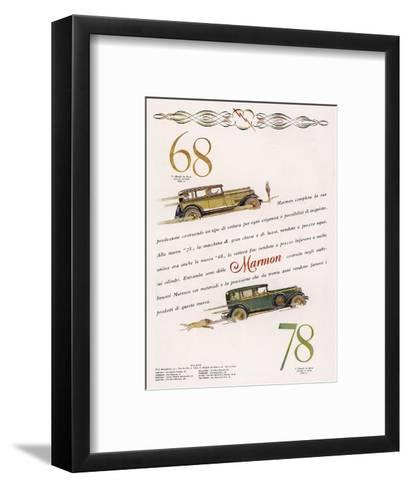 Marmon 68 and 78 Offered to the Discrimating Italian Buyer - a Mafia Godfather, Maybe--Framed Art Print