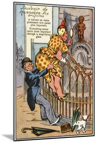 Manneken Pis Postcard Album - Through the Magnifying Glass--Mounted Giclee Print