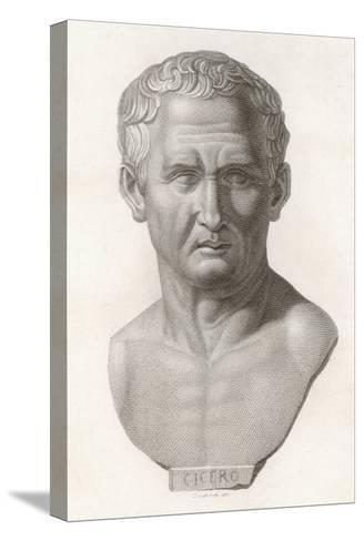 Marcus Tullius Cicero Roman Statesman and Orator--Stretched Canvas Print