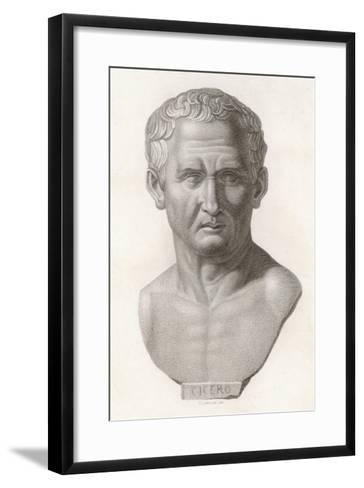 Marcus Tullius Cicero Roman Statesman and Orator--Framed Art Print