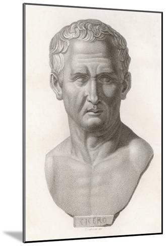 Marcus Tullius Cicero Roman Statesman and Orator--Mounted Giclee Print