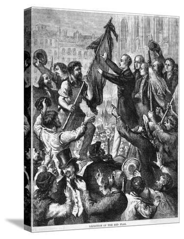Lamartine and the Flags--Stretched Canvas Print