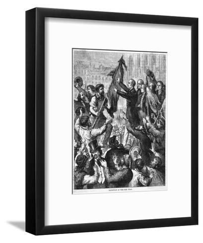 Lamartine and the Flags--Framed Art Print