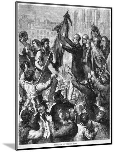Lamartine and the Flags--Mounted Giclee Print