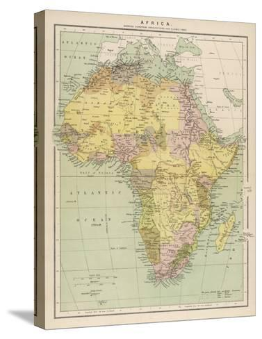 Map of Africa Showing European Annexations and Claims--Stretched Canvas Print