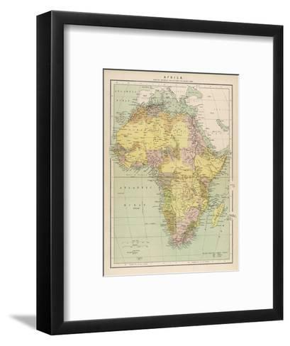 Map of Africa Showing European Annexations and Claims--Framed Art Print