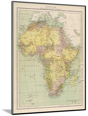 Map of Africa Showing European Annexations and Claims--Mounted Giclee Print