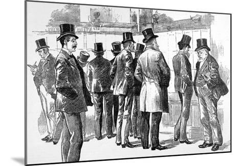 Lloyd's Underwriters Viewing the Casualties Board, 1890--Mounted Giclee Print