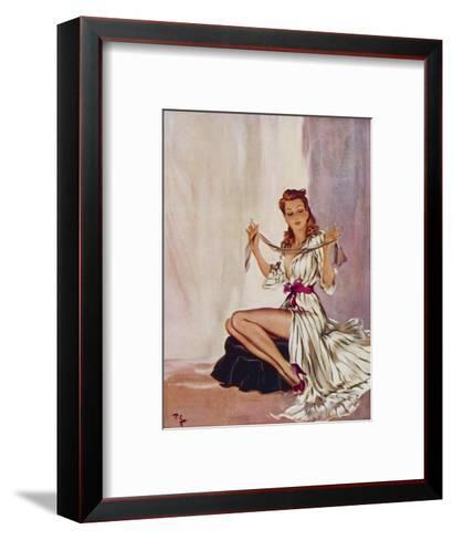 Looking a Gift Horse in the Mouth-David Wright-Framed Art Print