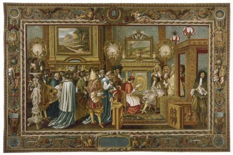 Louis XIV Fontainebleau--Stretched Canvas Print