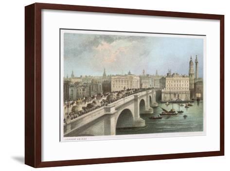 London Bridge 1850--Framed Art Print