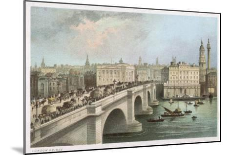London Bridge 1850--Mounted Giclee Print