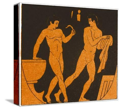 Men Bathing in Ancient Greece--Stretched Canvas Print