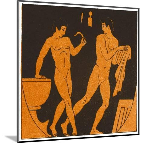 Men Bathing in Ancient Greece--Mounted Giclee Print