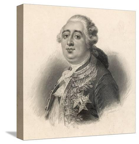 Louis XVI King of France 1774 - 1792--Stretched Canvas Print