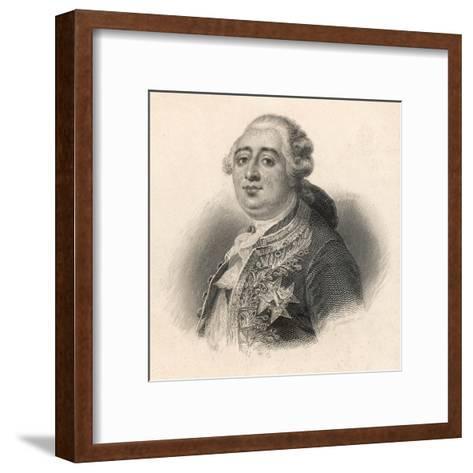 Louis XVI King of France 1774 - 1792--Framed Art Print