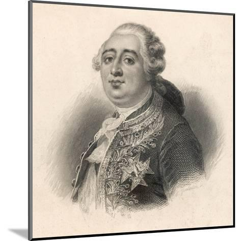 Louis XVI King of France 1774 - 1792--Mounted Giclee Print