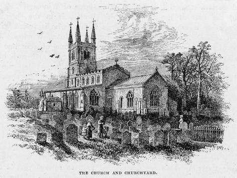 Lutterworth Church, Leicestershire--Stretched Canvas Print