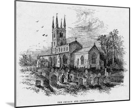 Lutterworth Church, Leicestershire--Mounted Giclee Print