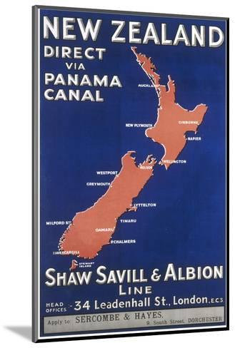 New Zealand Travel Poster--Mounted Giclee Print