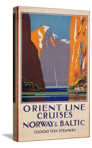 Orient Line Cruises to Norway and the Baltic--Stretched Canvas Print