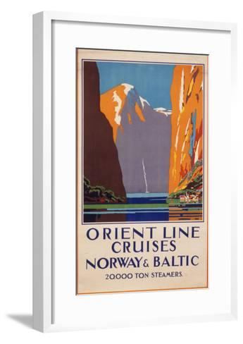 Orient Line Cruises to Norway and the Baltic--Framed Art Print