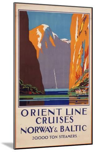 Orient Line Cruises to Norway and the Baltic--Mounted Giclee Print