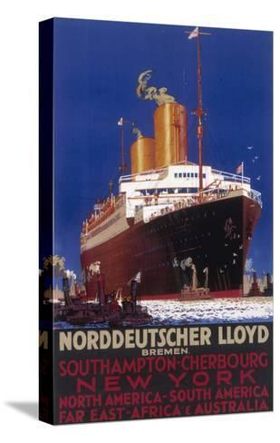 Norddeutscher Lloyd Shipping Poster--Stretched Canvas Print