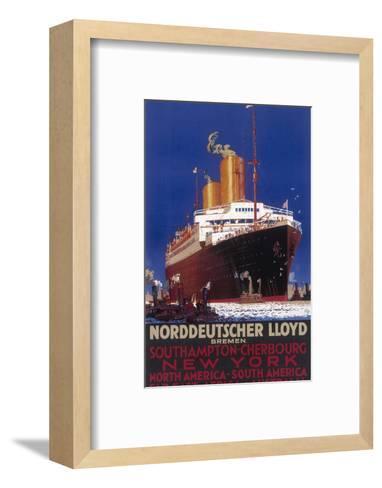 Norddeutscher Lloyd Shipping Poster--Framed Art Print