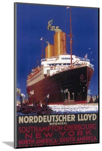 Norddeutscher Lloyd Shipping Poster--Mounted Giclee Print