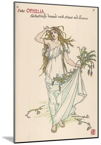 Ophelia Goes Mad, Hands Out Wild Flowers--Mounted Giclee Print