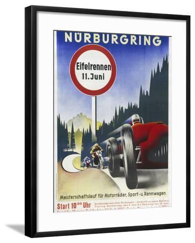 Motor Racing 1930s--Framed Art Print