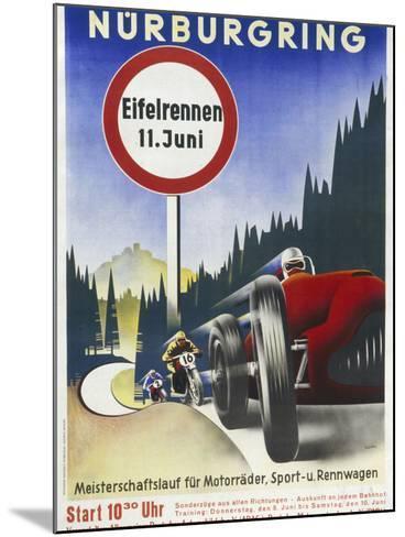 Motor Racing 1930s--Mounted Giclee Print