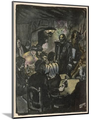 People in a Bohemian Cafe, Le Lapin Agile, Paris--Mounted Giclee Print