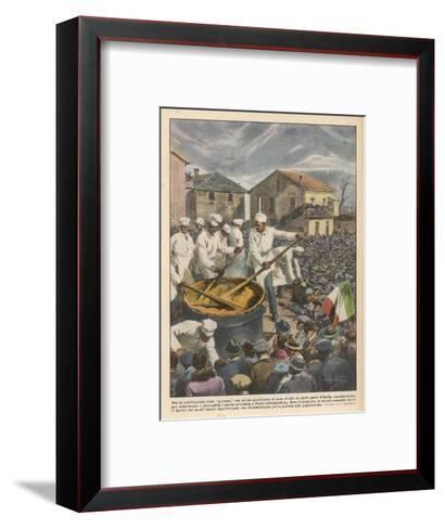 Pasta, The Annual 'Festa Di Polenta' at Ponti, Italy--Framed Art Print