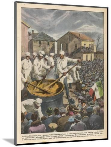 Pasta, The Annual 'Festa Di Polenta' at Ponti, Italy--Mounted Giclee Print