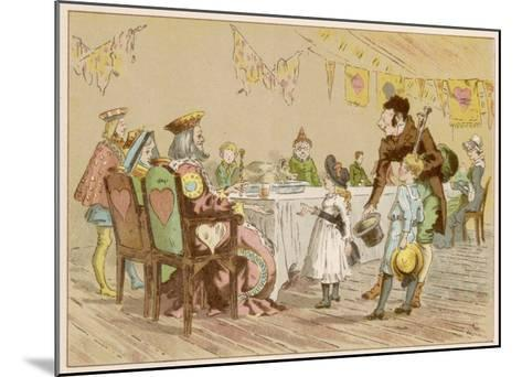 Nursery Rhyme Heroes at a Table--Mounted Giclee Print